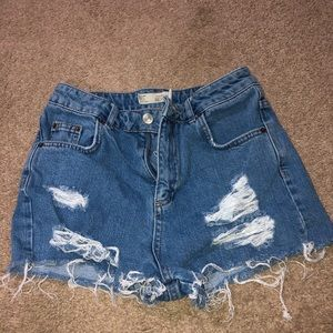 TOPSHOP high rise shorts